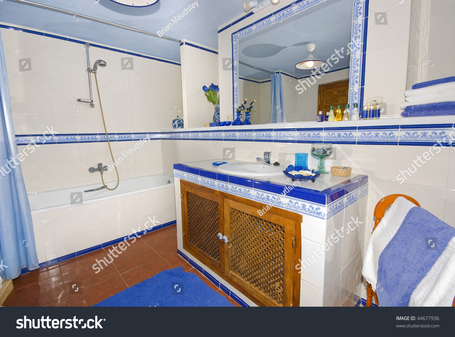 Bathroom In Spanish Rustic Spanish Country Style Bathroom White Stock Photo Edit Now