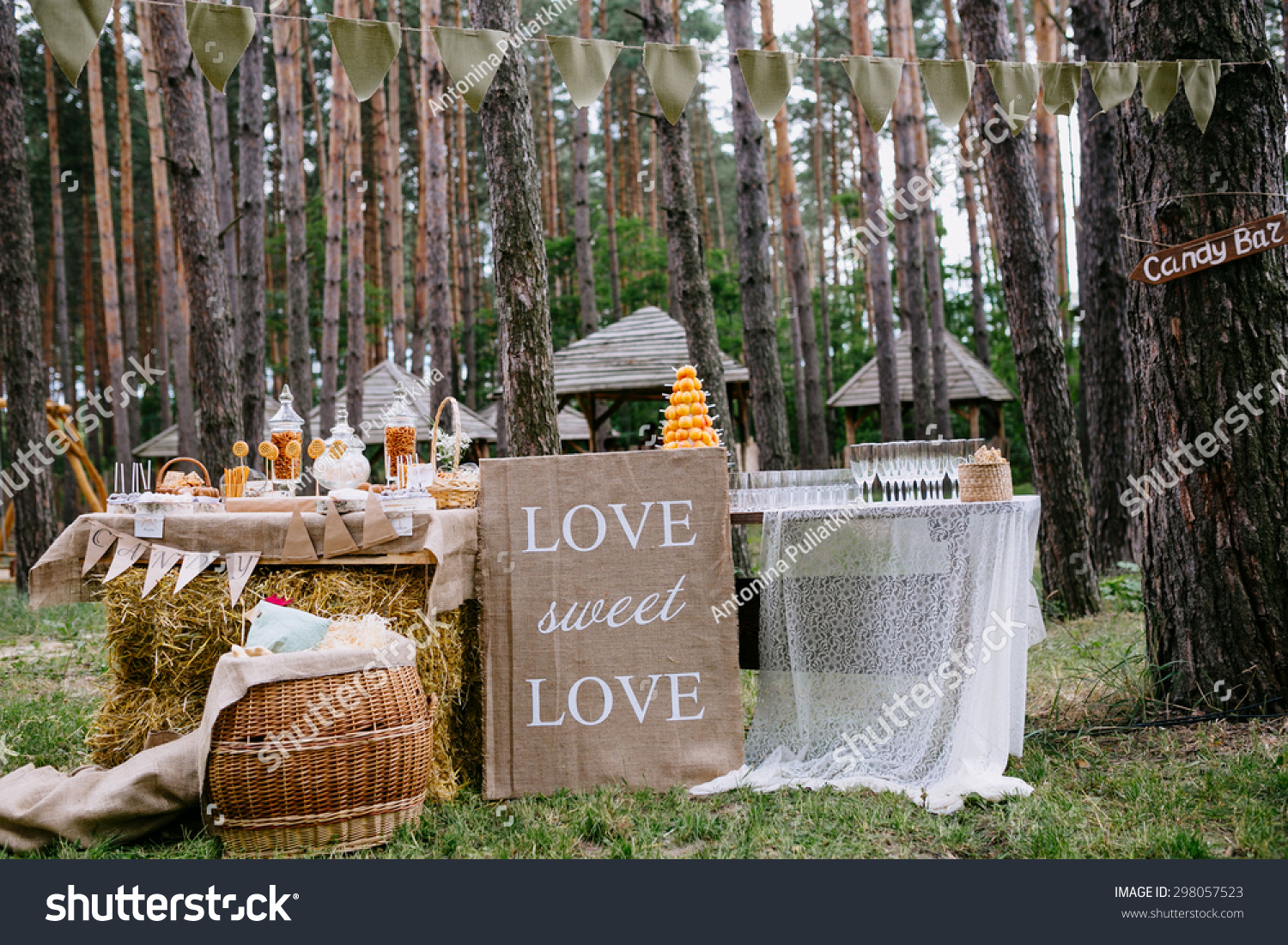 stock photo rustic wedding candy bar wedding candy bar rustic wedding candy bar