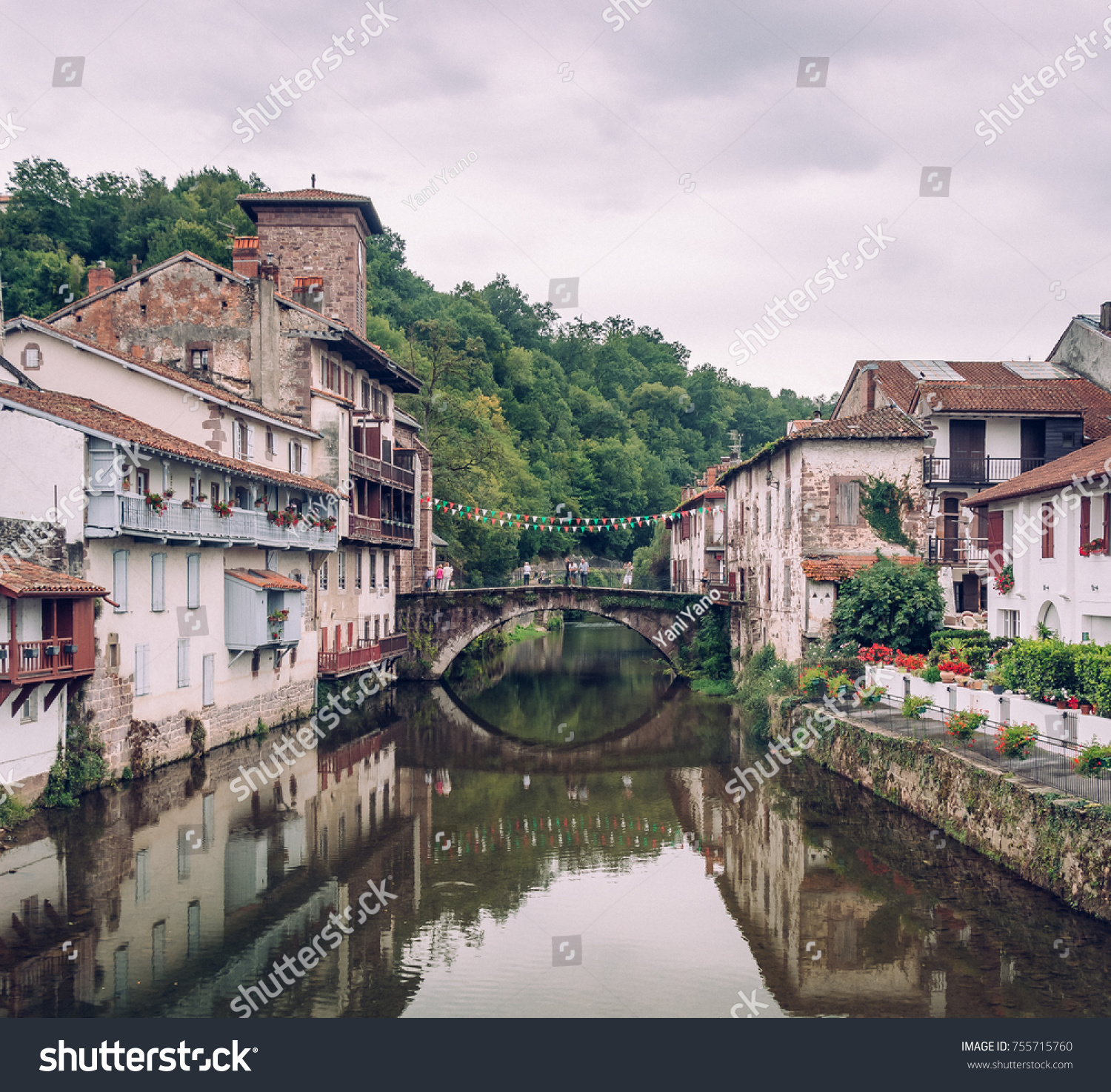 St Jean De Pied De Port Saint Jean Pied De Port Stock Photo Edit Now 755715760
