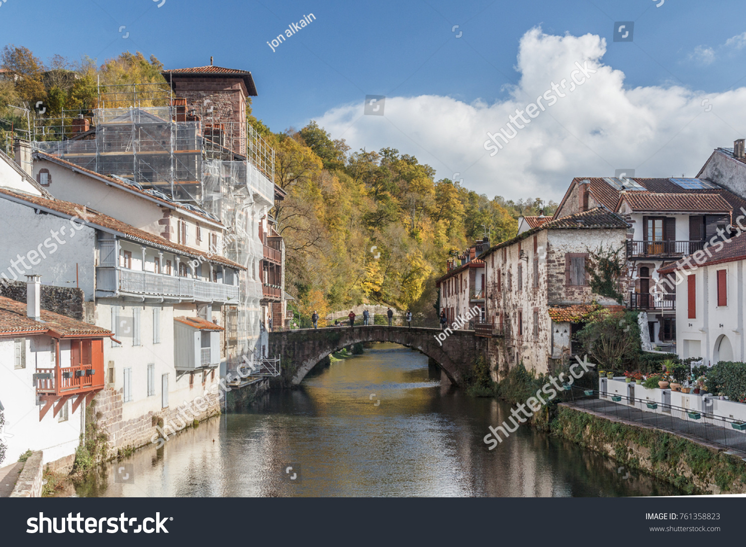 Saint Jean Pied De Port Saint Jean Pied De Port Basque Stock Photo Edit Now 761358823