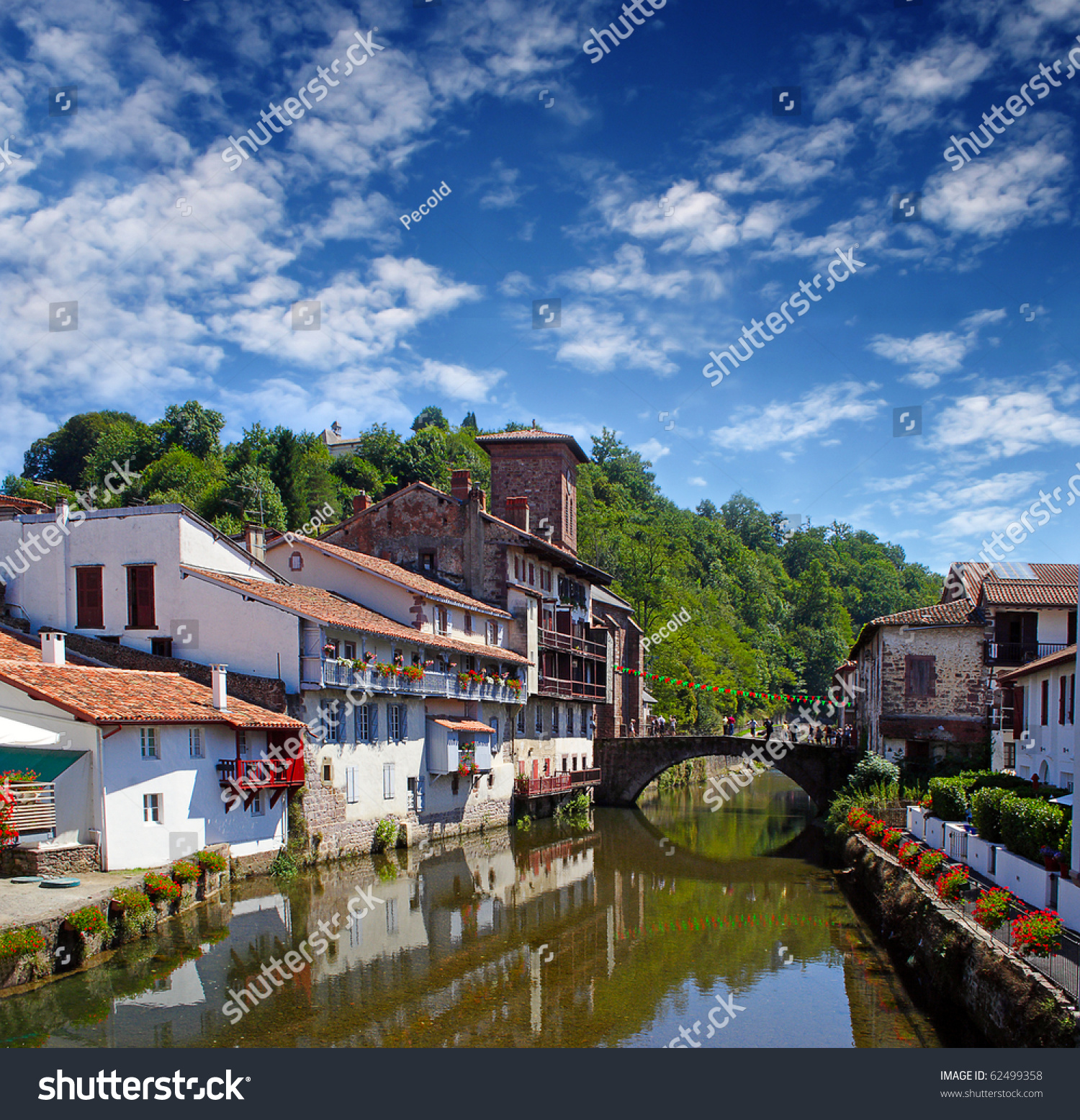 St Jean De Pied De Port Saint Jean Pied De Port Traditional Stock Photo Edit Now