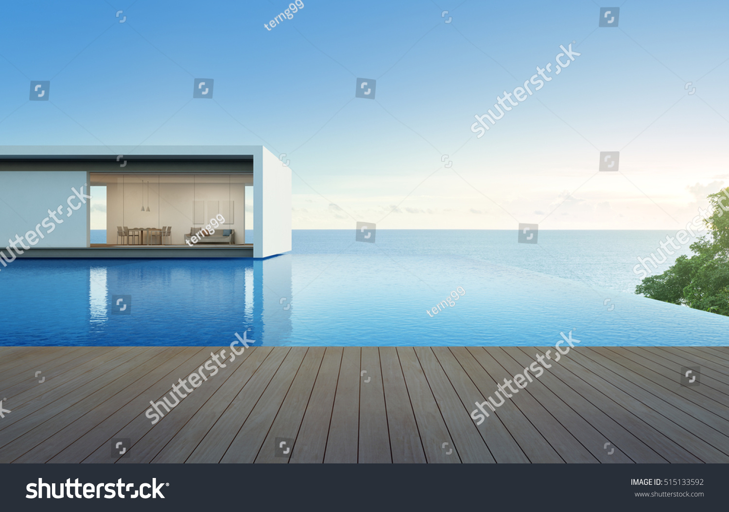 Luxury Holiday Villa With Pool Royalty Free Stock Illustration Of Sea View House Pool Terrace