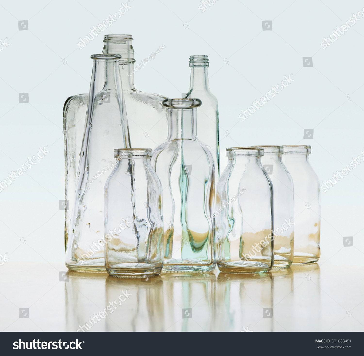 Interesting Bottles See Through Groups Clear Glass Bottles Stock Photo Edit Now