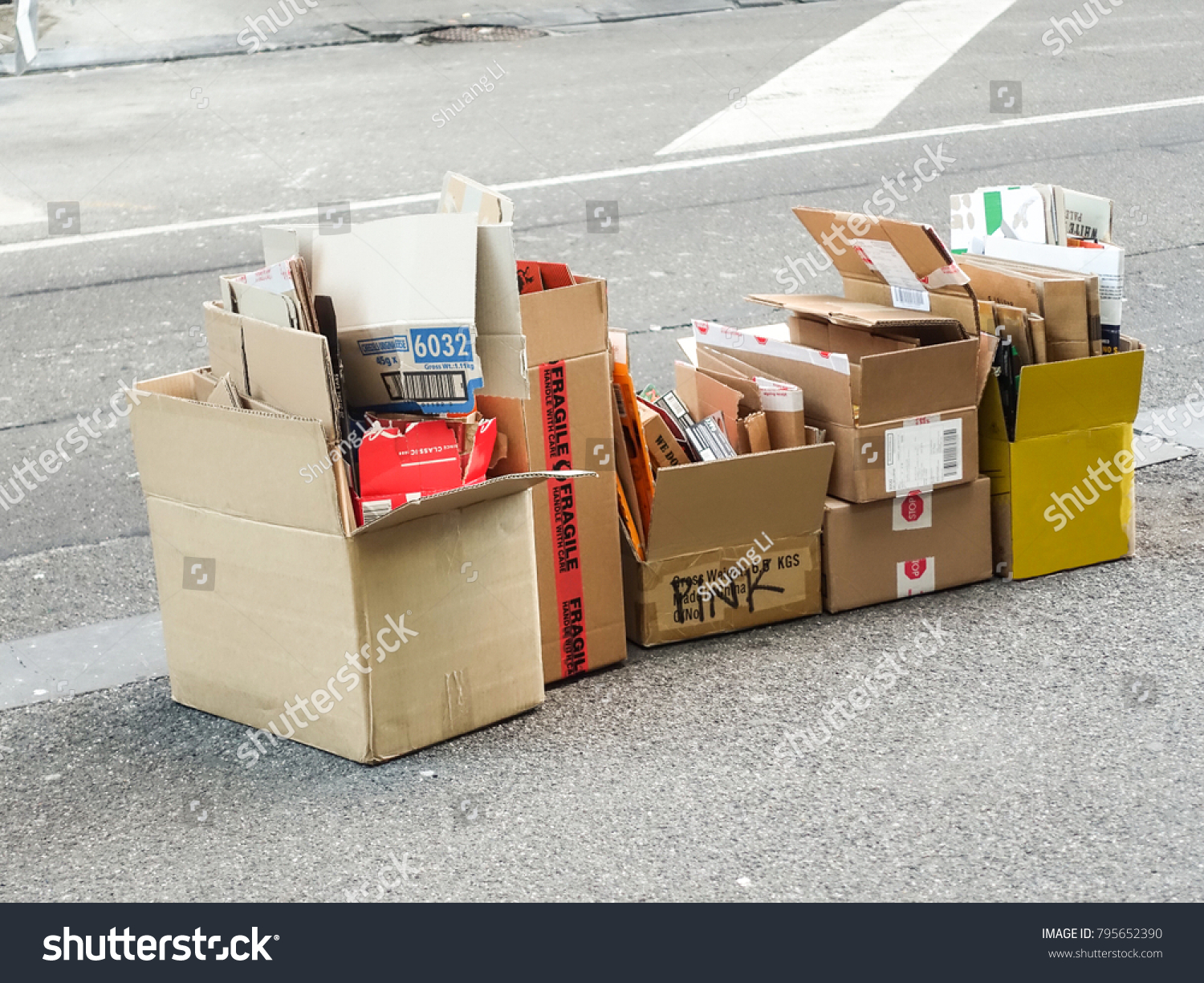 Free Cardboard Boxes Melbourne Several Hardboard Paper Boxes Different Shapes Stock Photo Edit