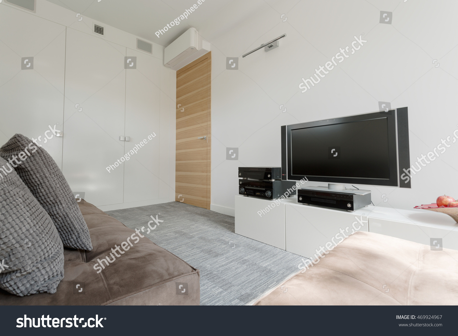 Little Couch For Bedroom Simple Little Movie Room Comfortable Couch Stock Photo Edit Now
