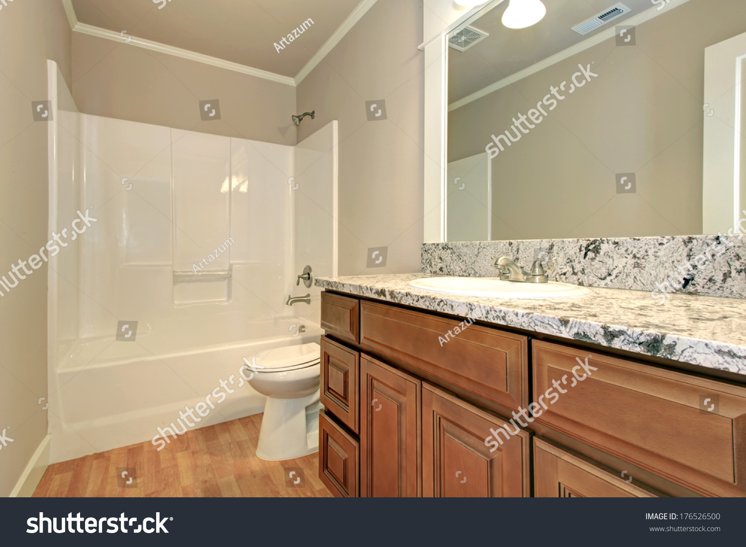 Soft Colors Bathroom Hardwood Floor Wooden Stock Photo Edit Now 176526500