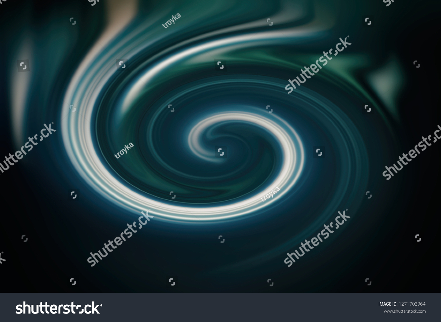 Aqua Whirlpools Spiral Movement Water Whirlpool Aqua Blue Stock Illustration