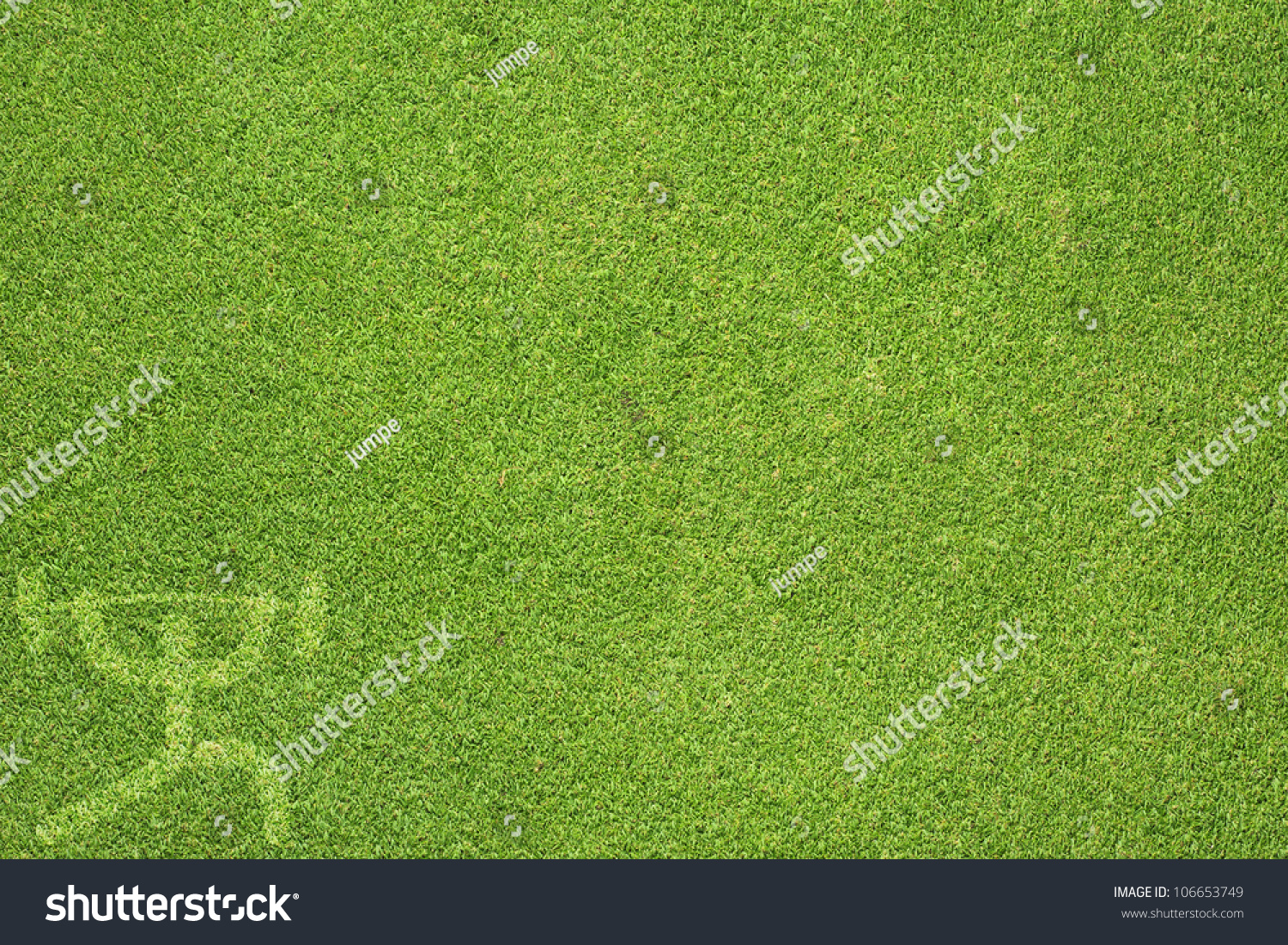 grass field and football frame stock photo