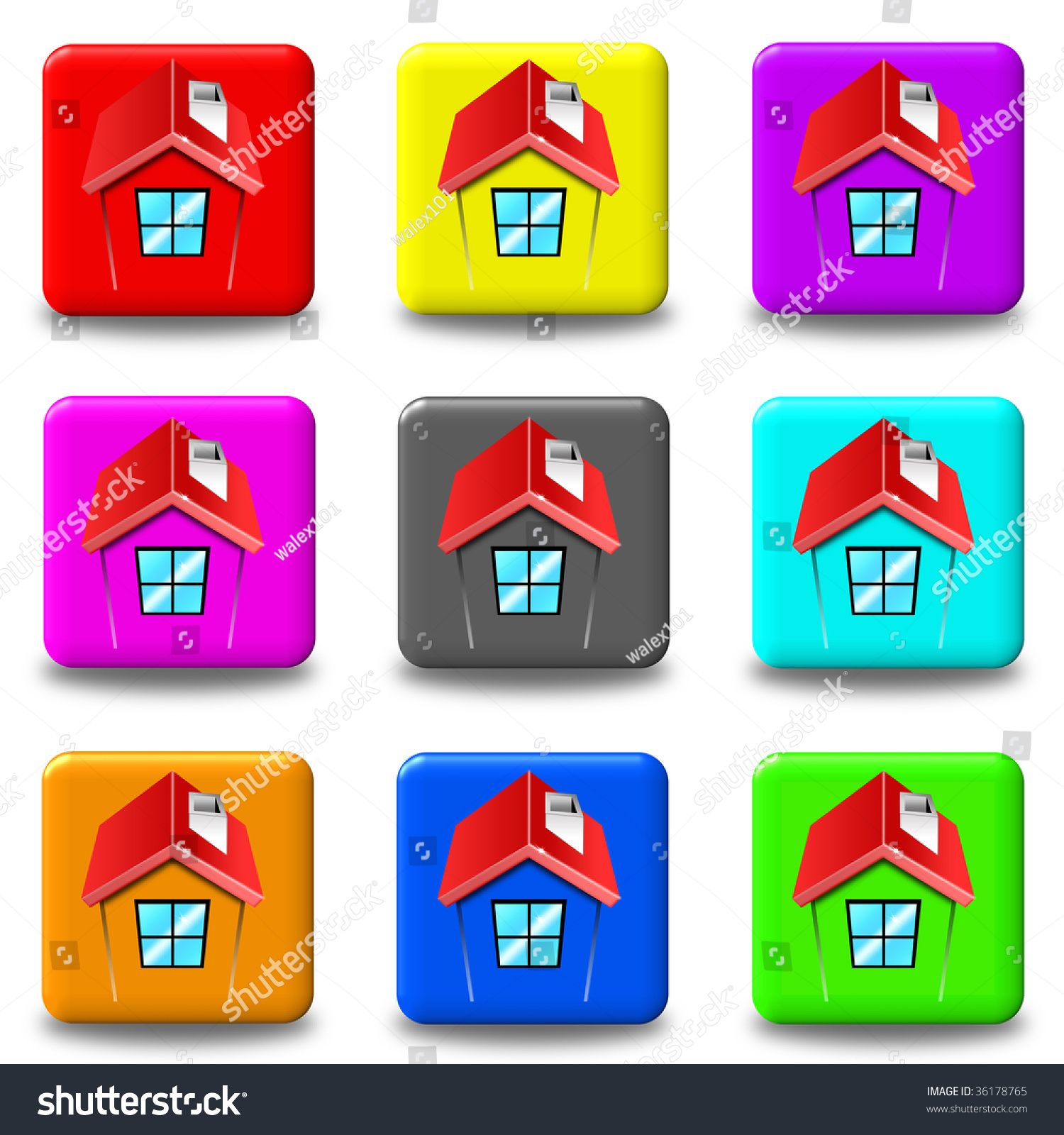 Email Icon Isolated On Special Yellow Square Button Abstract Square Home Button Icon Set 9 Stock Illustration 36178765