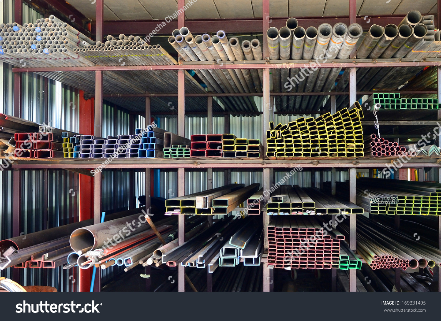 Iron Shop Stack Iron Pipes Iron Shop Stock Photo Edit Now 169331495