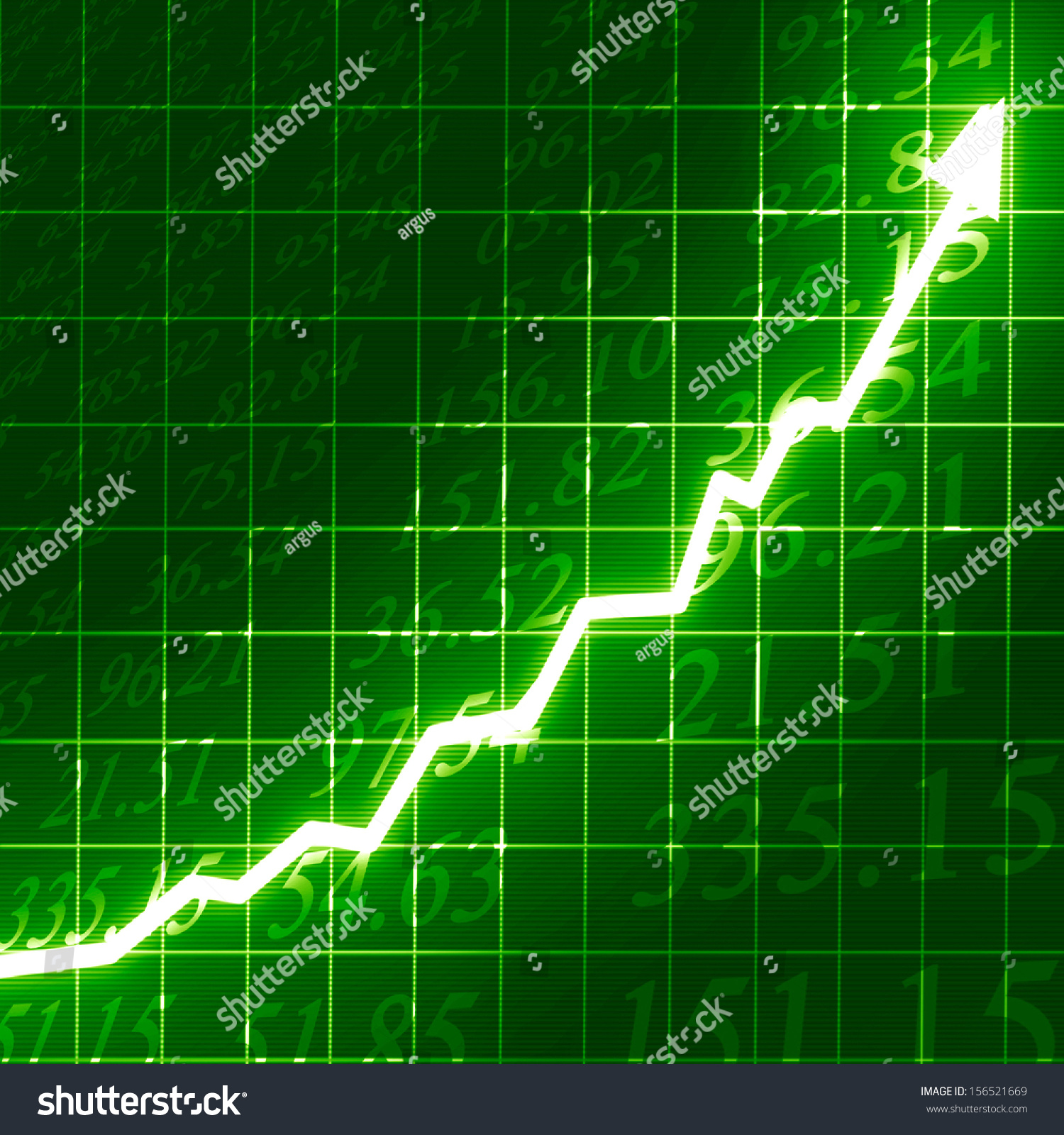 Stock Markets Up Stock Market Arrow Graph Going On Stock Illustration