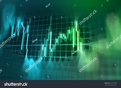 Stock Market Graph And Bar Chart Price Display. Data On Live Computer Screen. Display Of Quotes ...