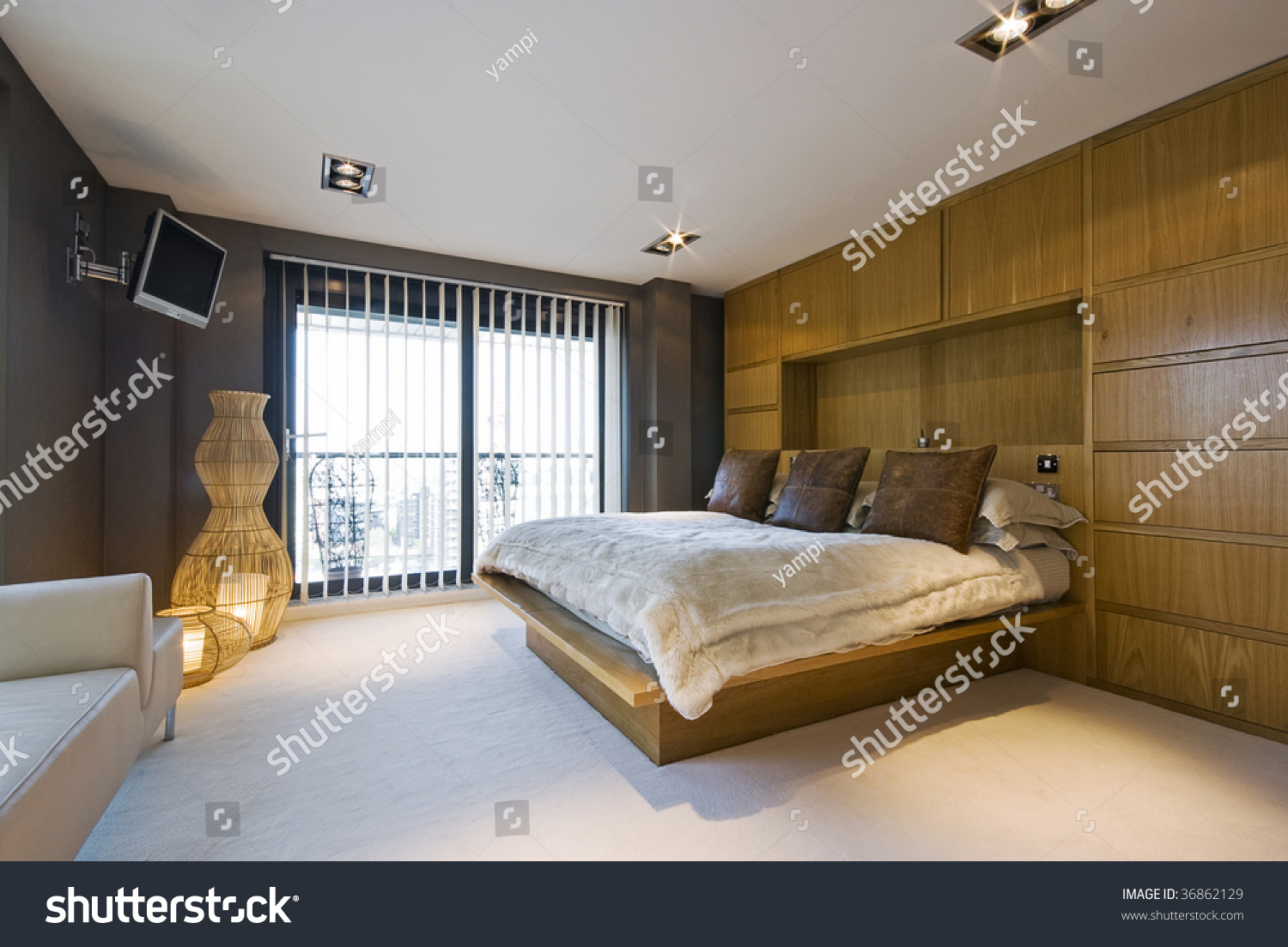 How High To Mount Tv On Wall In Bedroom Stunning Luxury Bedroom With A King Size Bed Wall Mount