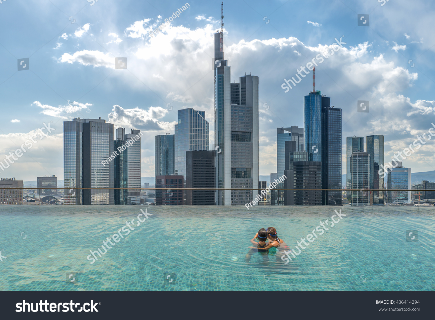 Swimming Pool Frankfurt Swimming Pool On Roof Top Beautiful Stock Photo Edit Now