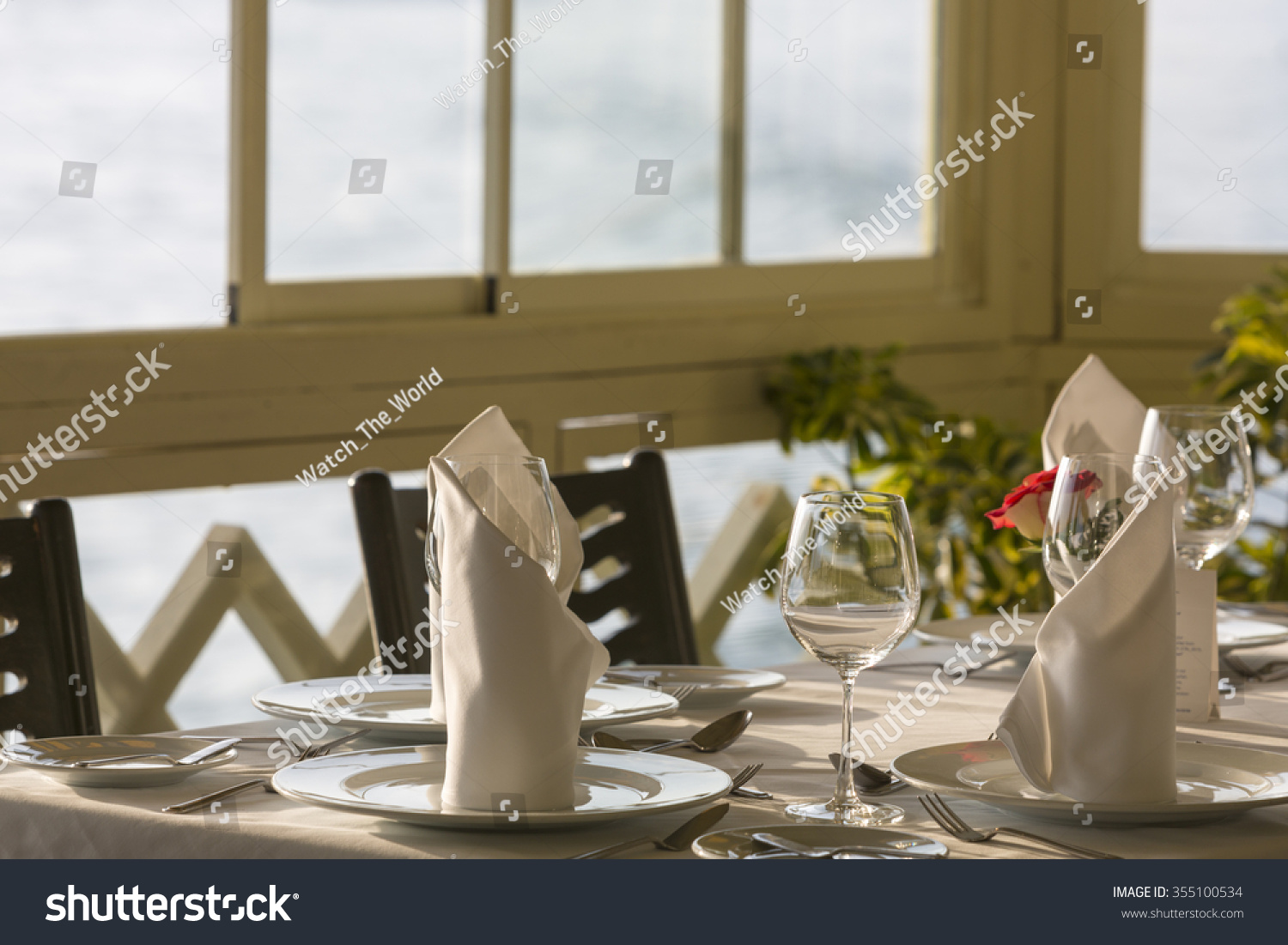 Cuisine Table Haute Table Arrangement Expensive Haute Cuisine Restaurant Stock Photo