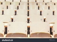 Tables And Chairs In A College Classroom Stock Photo ...