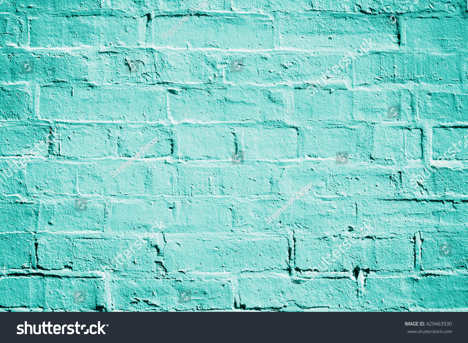 Turquoise Brick Wallpaper Teal Turquoise Aqua Mint Green Brick Stock Photo 429463930
