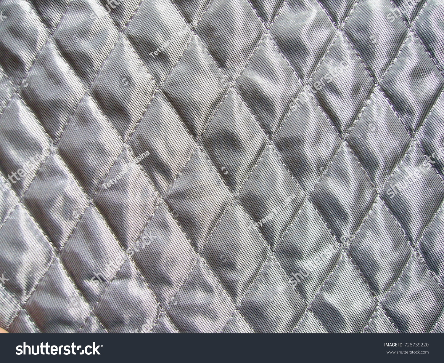 Quilted Fabric Texture Fabric Gray Quilted Fabric Stock Photo Edit Now
