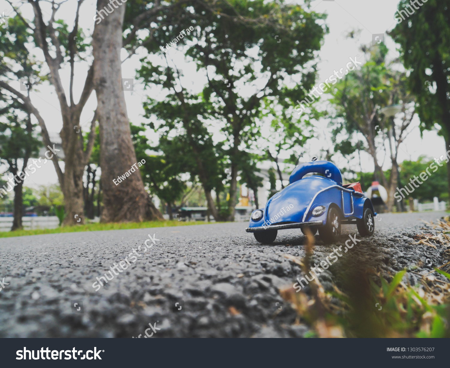 Ohre Classic Blue Red Classic Car Toy On Stock Photo Edit Now 1303576207