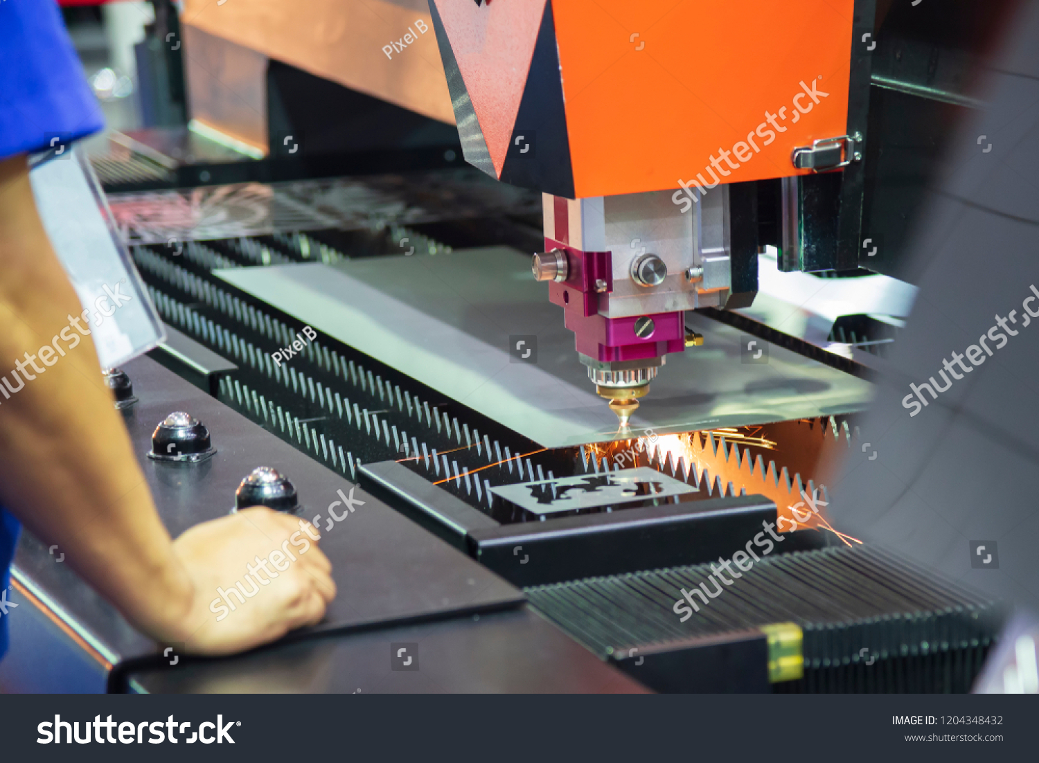 Laser Cutting Machine Metal Cnc Fiber Laser Cutting Machine Cutting Stock Photo Edit Now