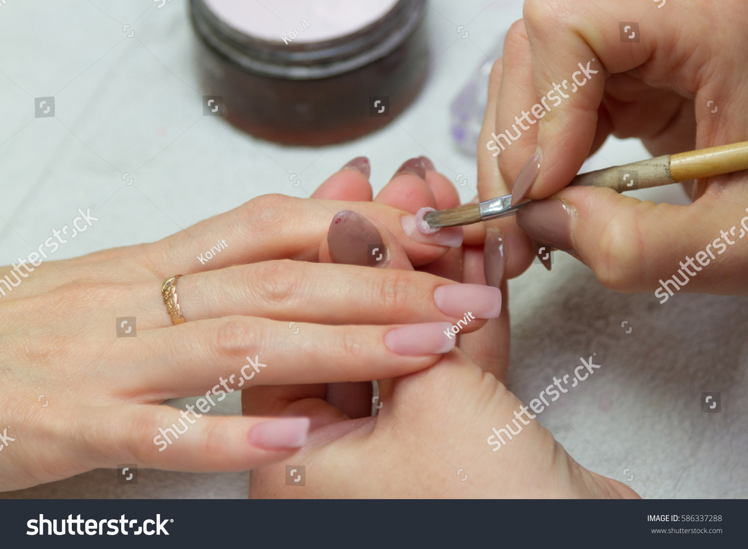 Salon Creation The Creation Of Extension Of Nails In A Beauty Salon Ez Canvas