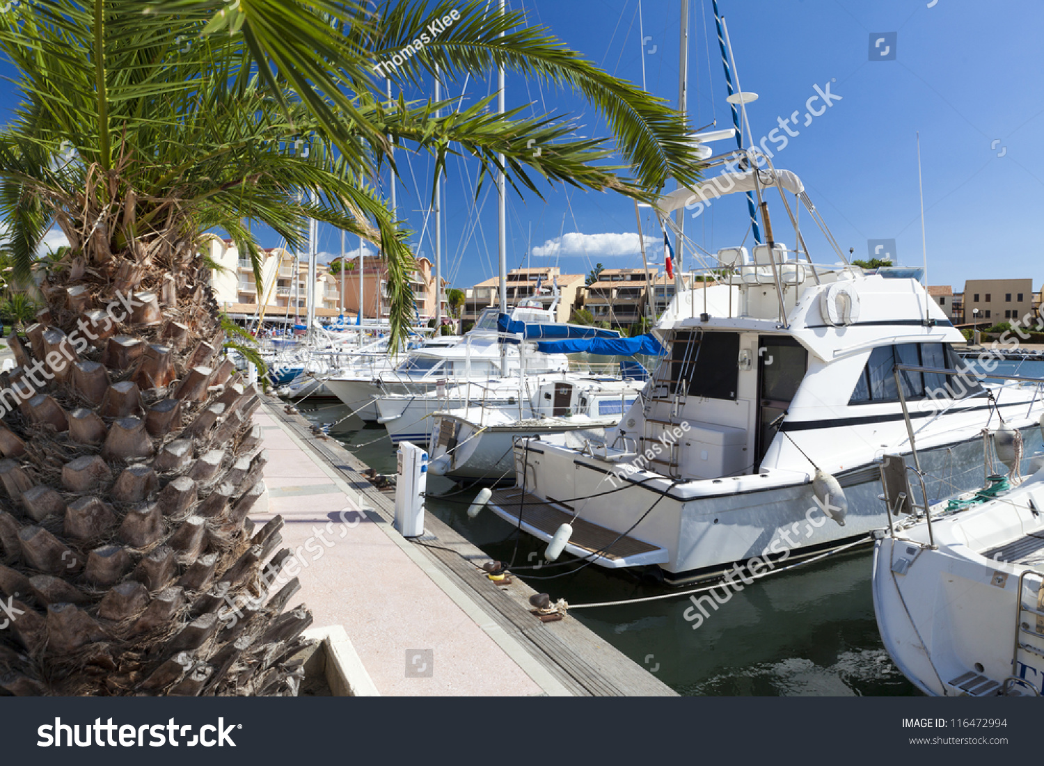 Hotel Port Beach Gruissan Marina Gruissan Many Sailing Yachts South Stock Photo Edit Now