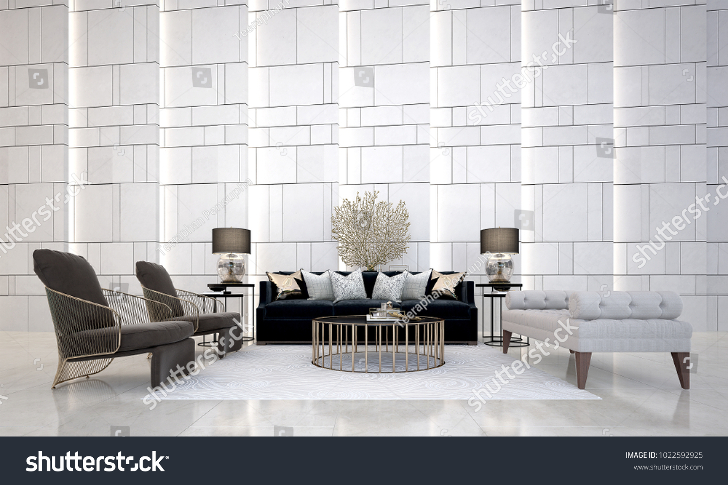 Modern Lounge Royalty Free Stock Illustration Of Modern Lounge Living Room
