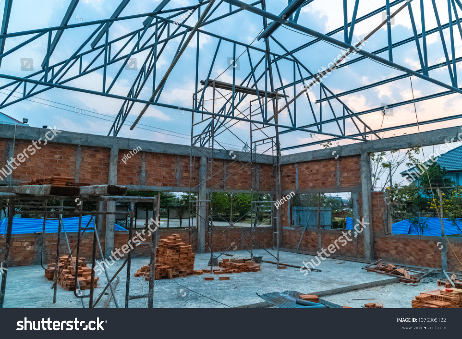 Container Haus Thailand New Office Construction Site Thailand Stock Photo Edit Now
