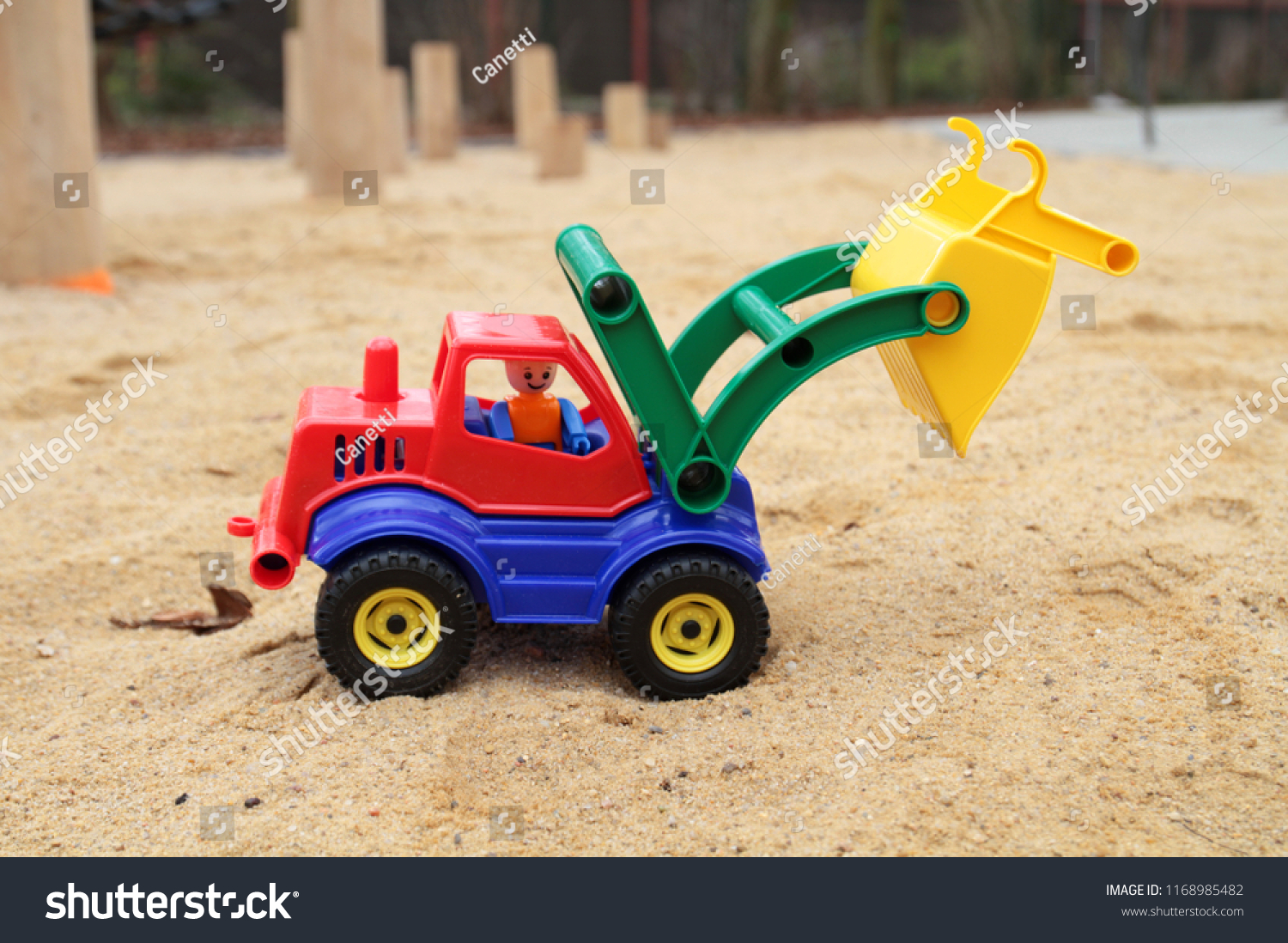 Digger Toy Toy Digger Sand Box Stock Photo Edit Now 1168985482 Shutterstock