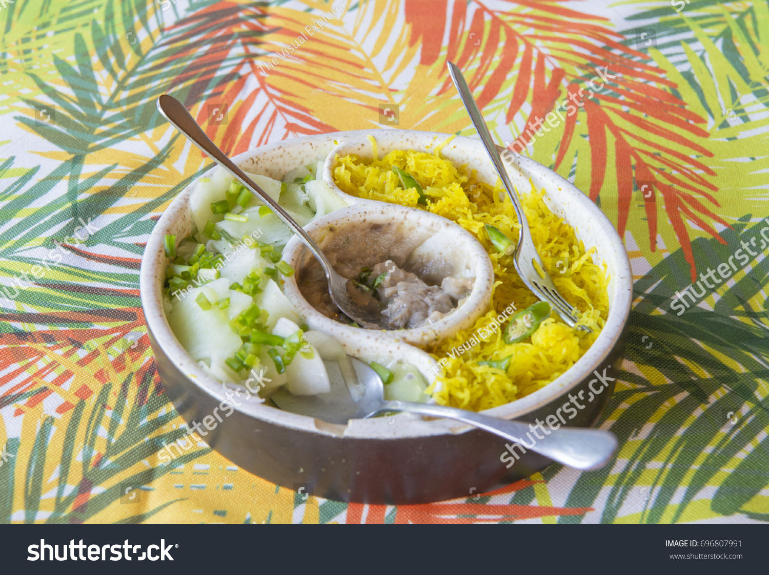Cuisines Similar To Indian Traditional Mauritian Food Similar Typical Indian Stock Photo