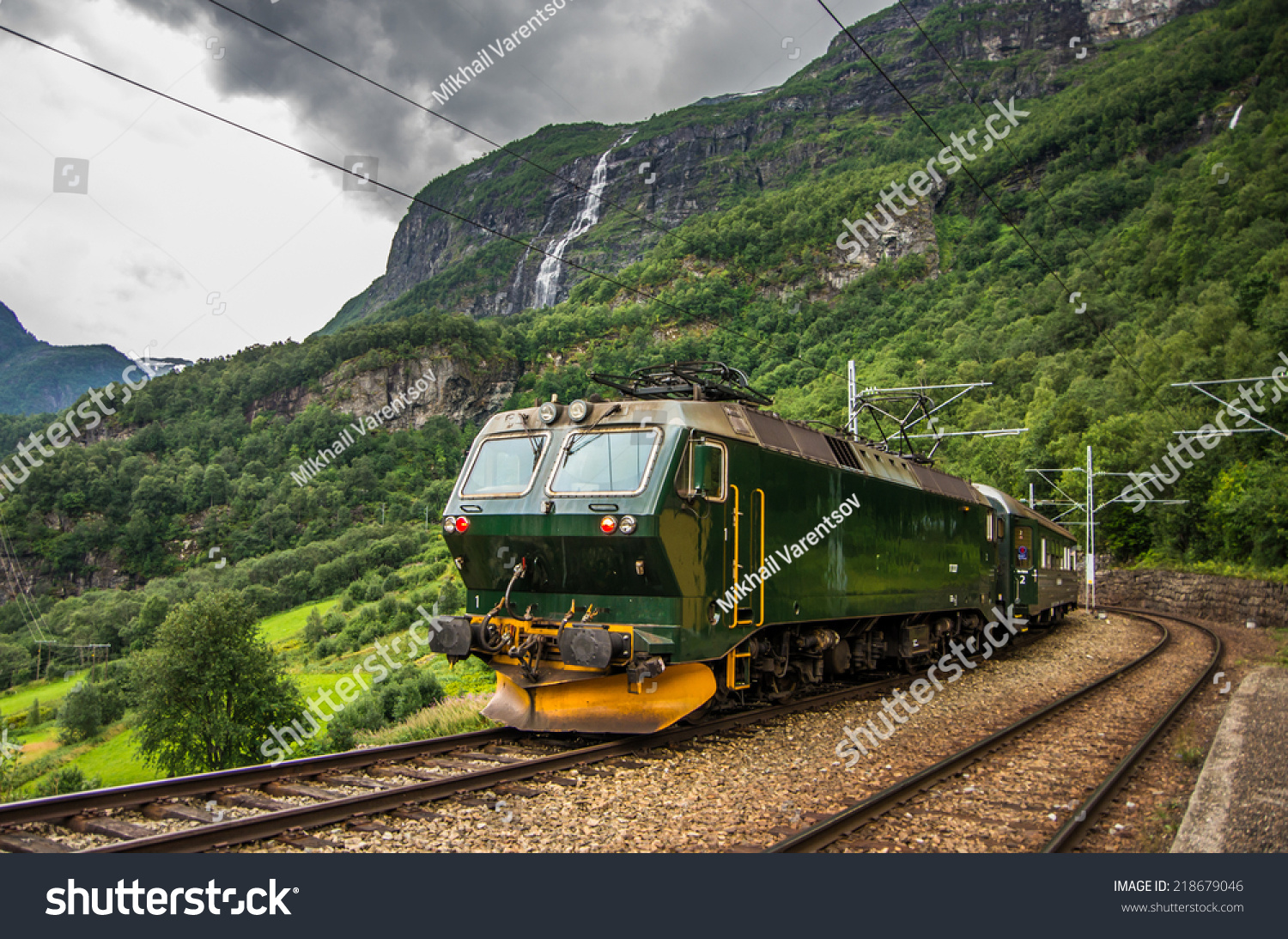 Norway Train Train Famous Flam Railway Line Flam Stock Photo Edit Now
