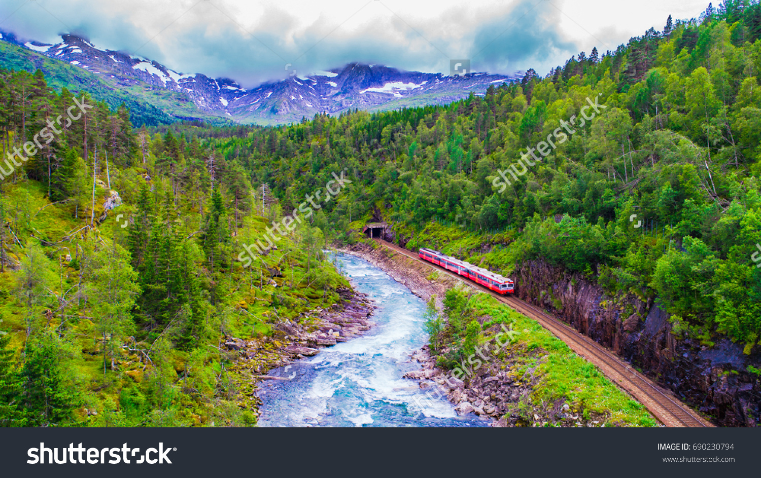 Norway Train Train Oslo Bergen Mountains Norway Stock Photo Edit Now