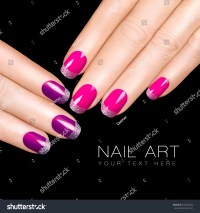 Trend Holiday Nail Art. Luxury Nail Polish. Glitter Nail ...