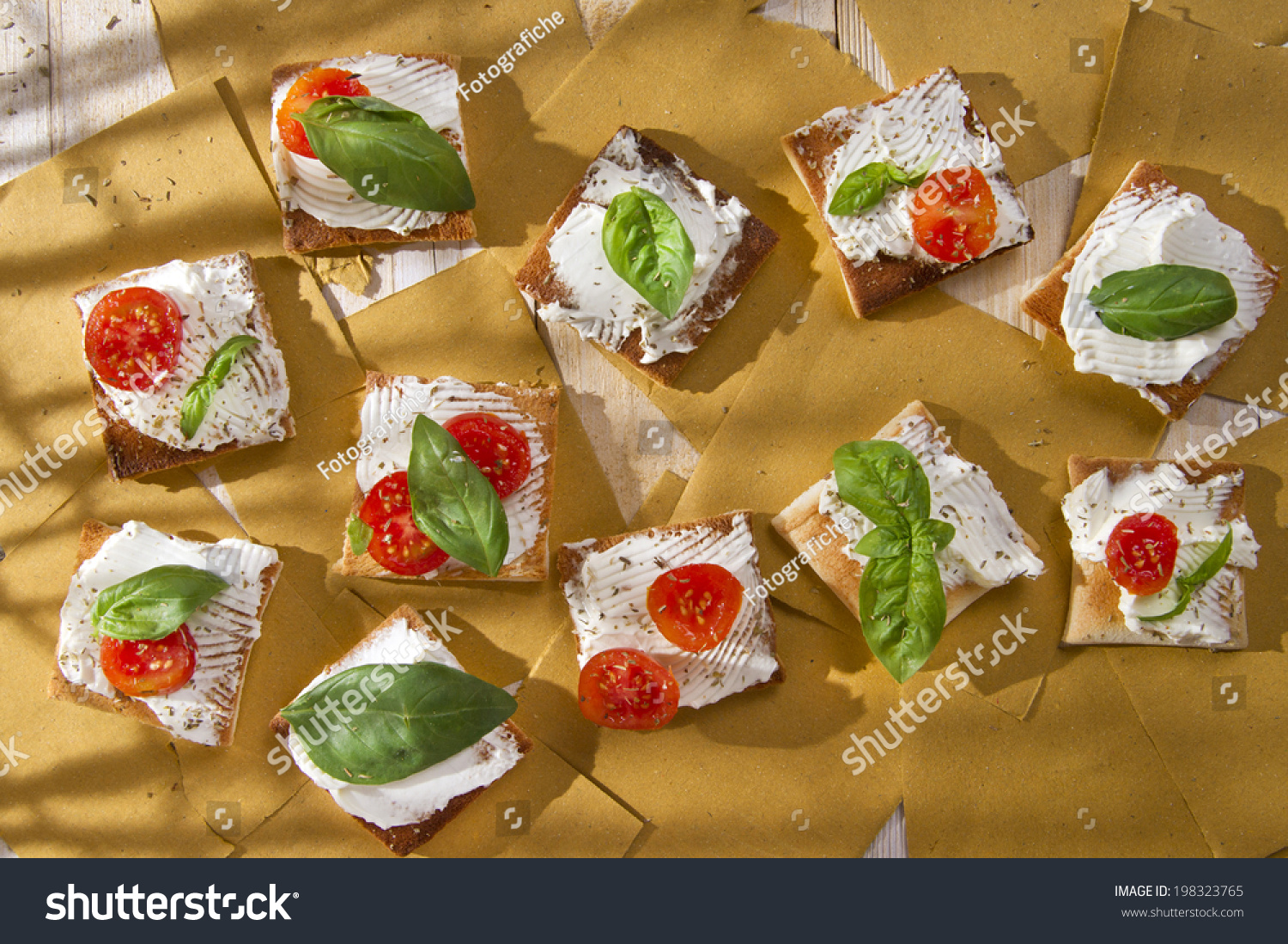 Canapés Wraps Tricolor Cocktail Canapes Cheese Tomato Salad Stock Photo Edit