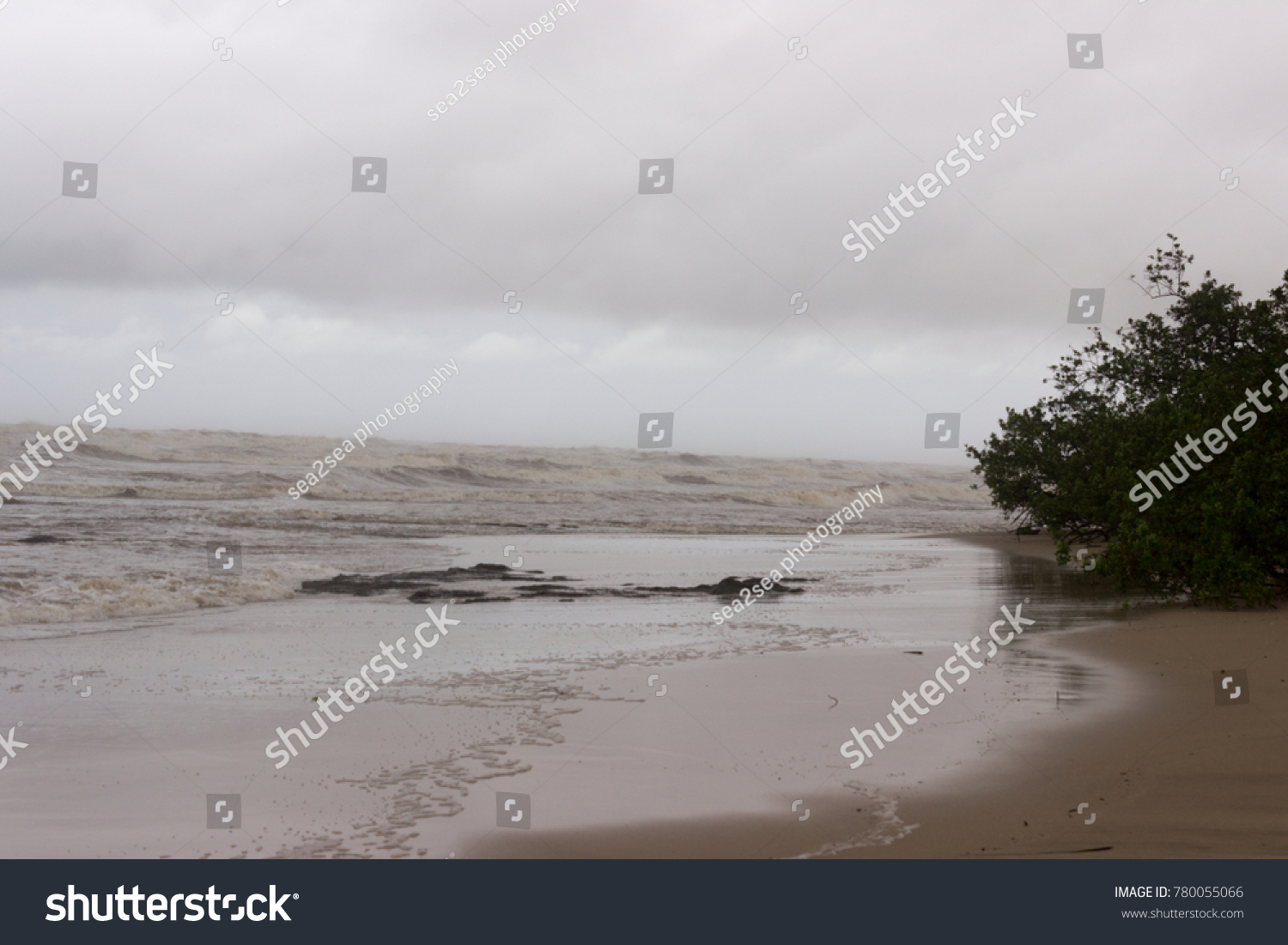 Color Tamarindo Tropical Storm Nate Turns Normally Blue Stock Photo Edit