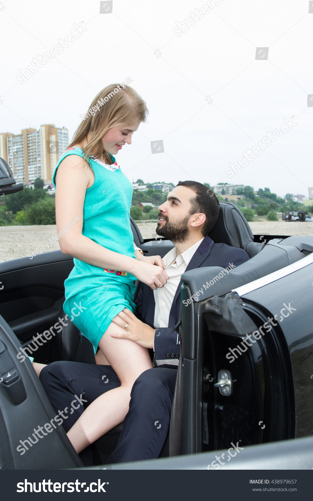 Salon Convertible Two Lovers Meet Salon Convertible Stock Photo Edit Now 438979657