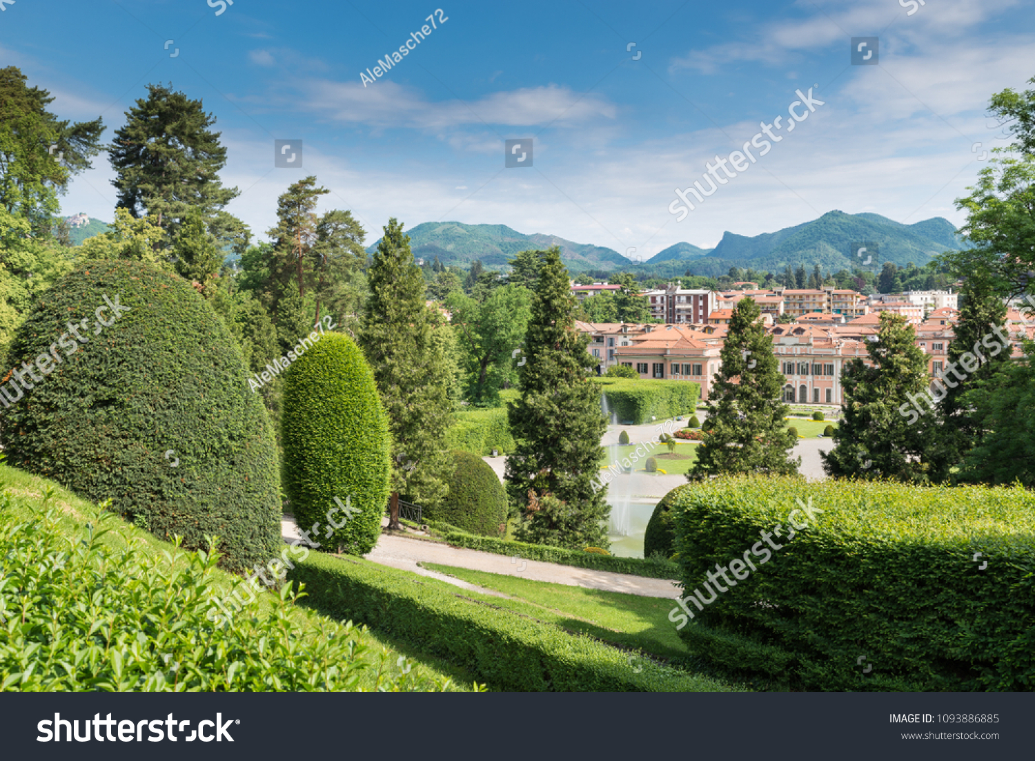 Typical Famous Italian Garden Giardino Allitaliana Stock Photo Edit Now 1093886885