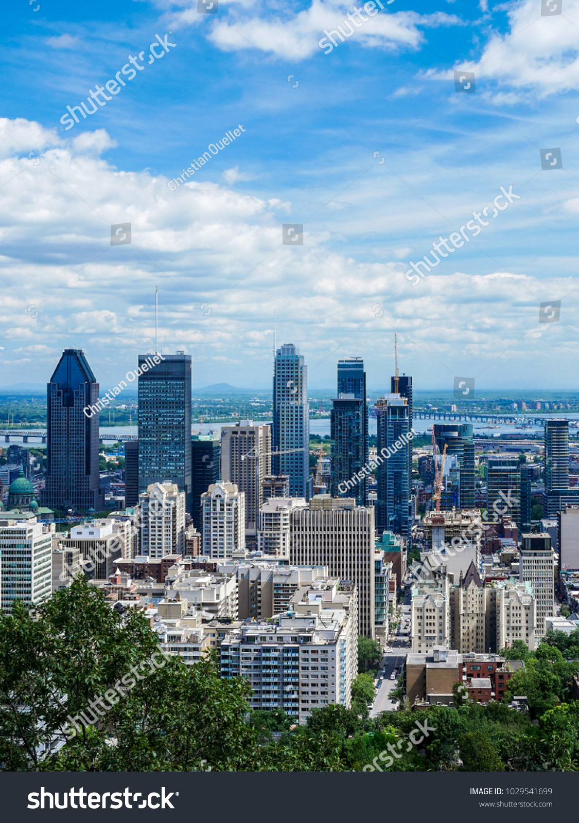 Quebec Montreal View Montreal Downtown Quebec Canada Stock Photo Edit Now