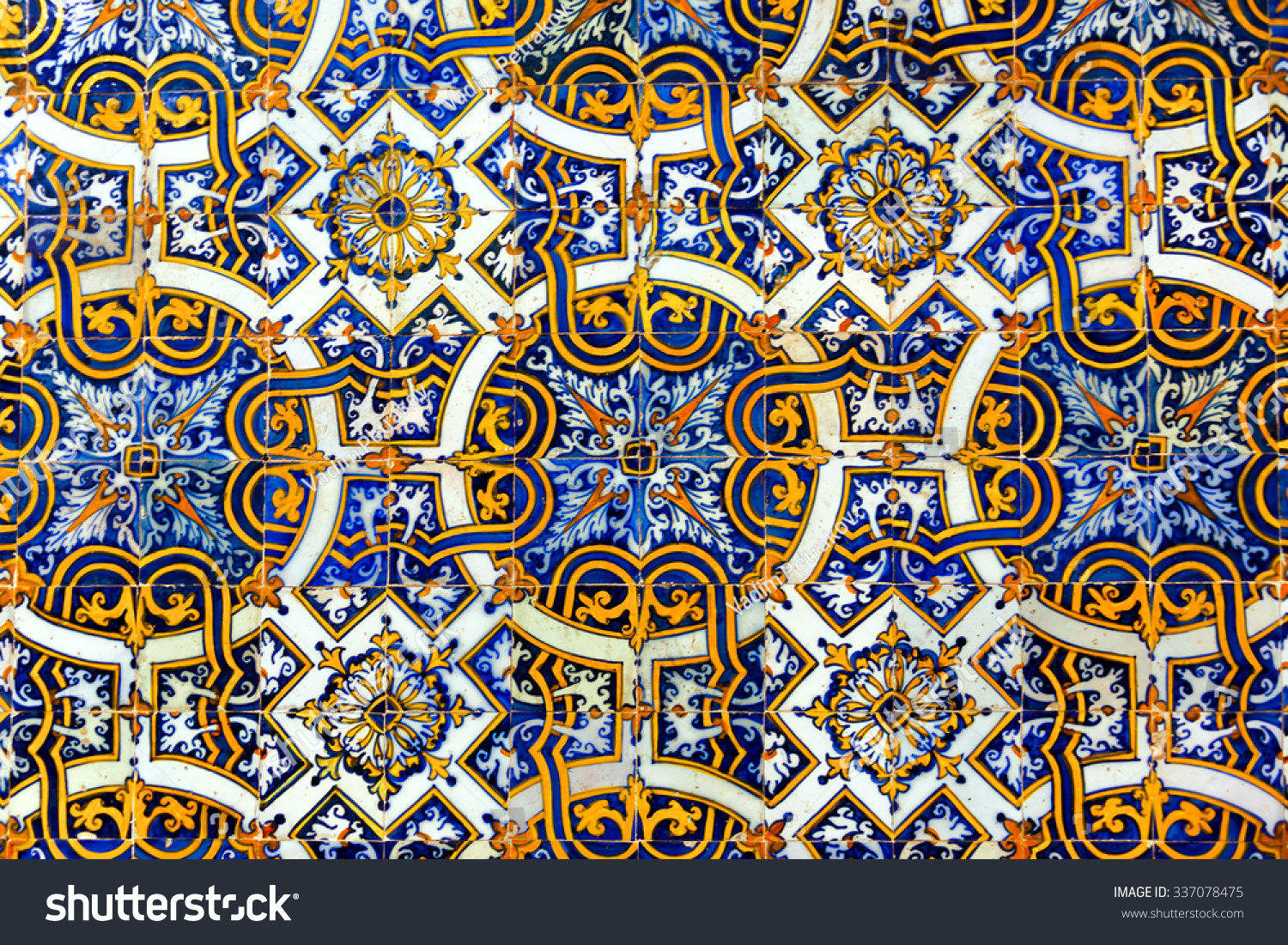 Azulejos Vintage Azulejos Ancient Tiles Old University Stock Photo