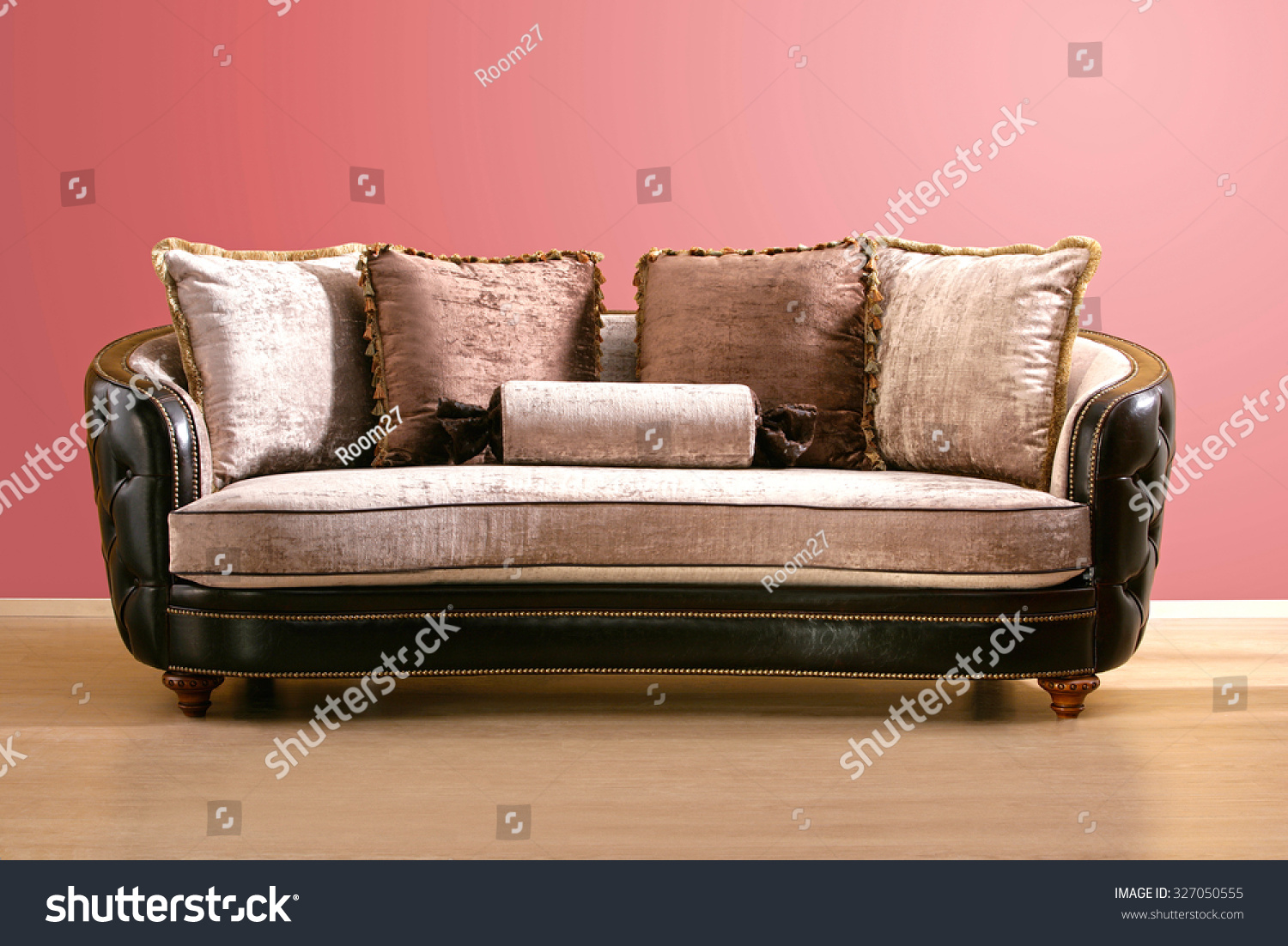 Vintage Couch Vintage Couch Made Brown Leather Pink Stock Photo Edit Now