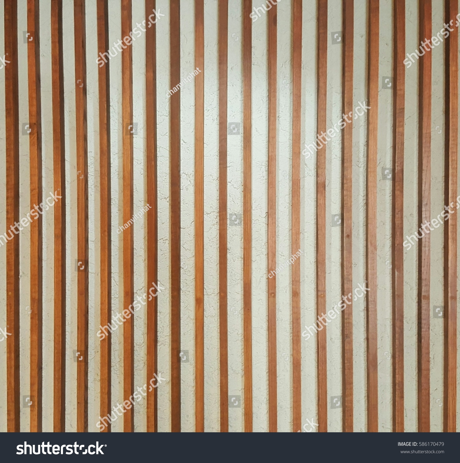 Vertical Wood Slat Wall Wall Covering Vertical Wooden Slats Background Stock Photo Edit