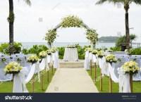 Wedding Set Garden Inside Beach Stock Photo 127108628 ...