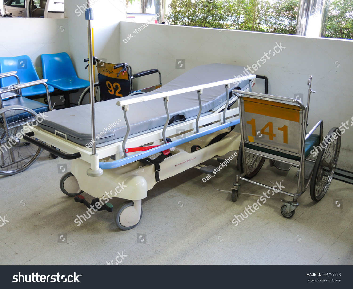 Bed Wheelchair Wheelchair Bed Hospital Stock Photo Edit Now 699759973