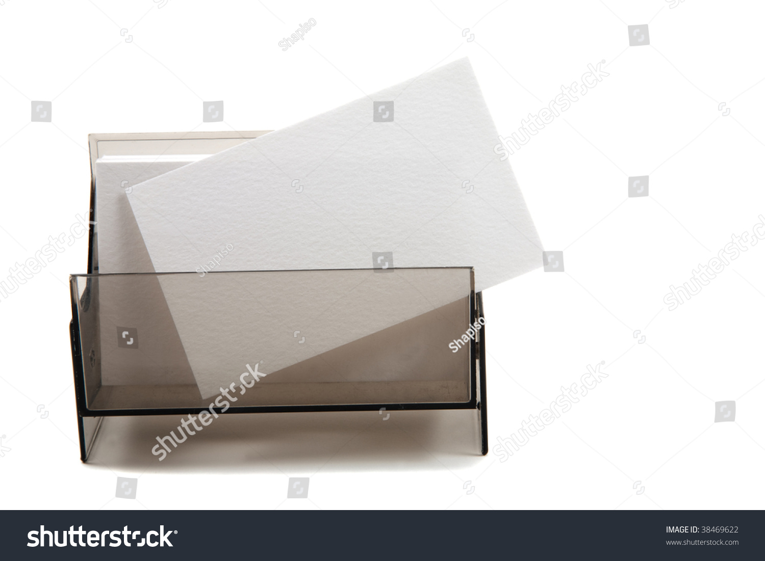 Id Card Rope Mockup White Blank Business Name Card Box Stock Photo 38469622