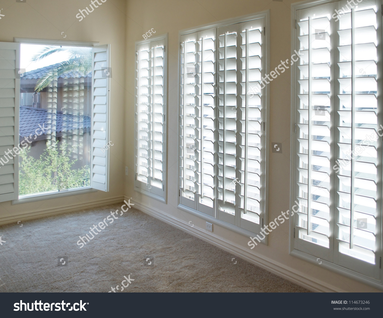 Plantation Interior Design White Plantation Style Wood Shutters For Luxury Interior