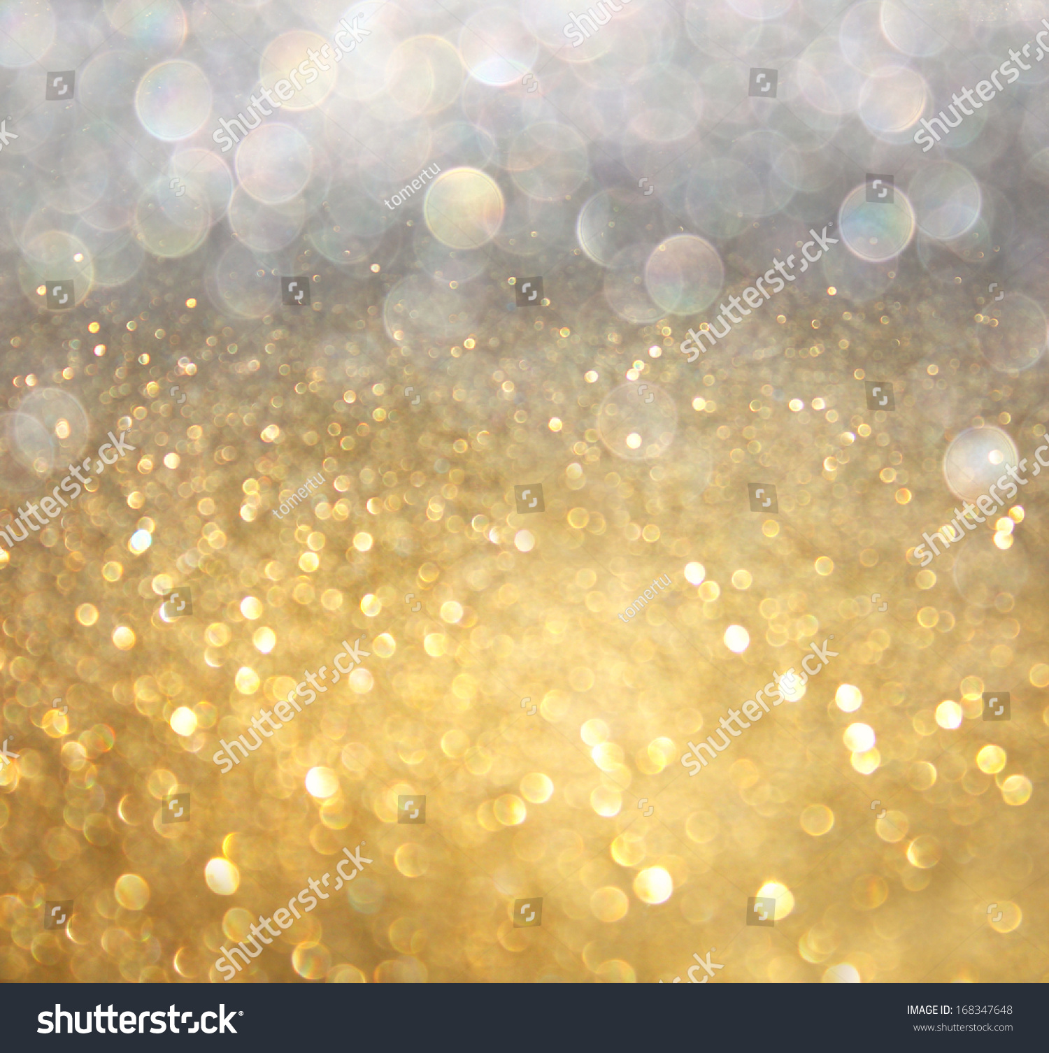 White silver gold abstract bokeh lights stock photo