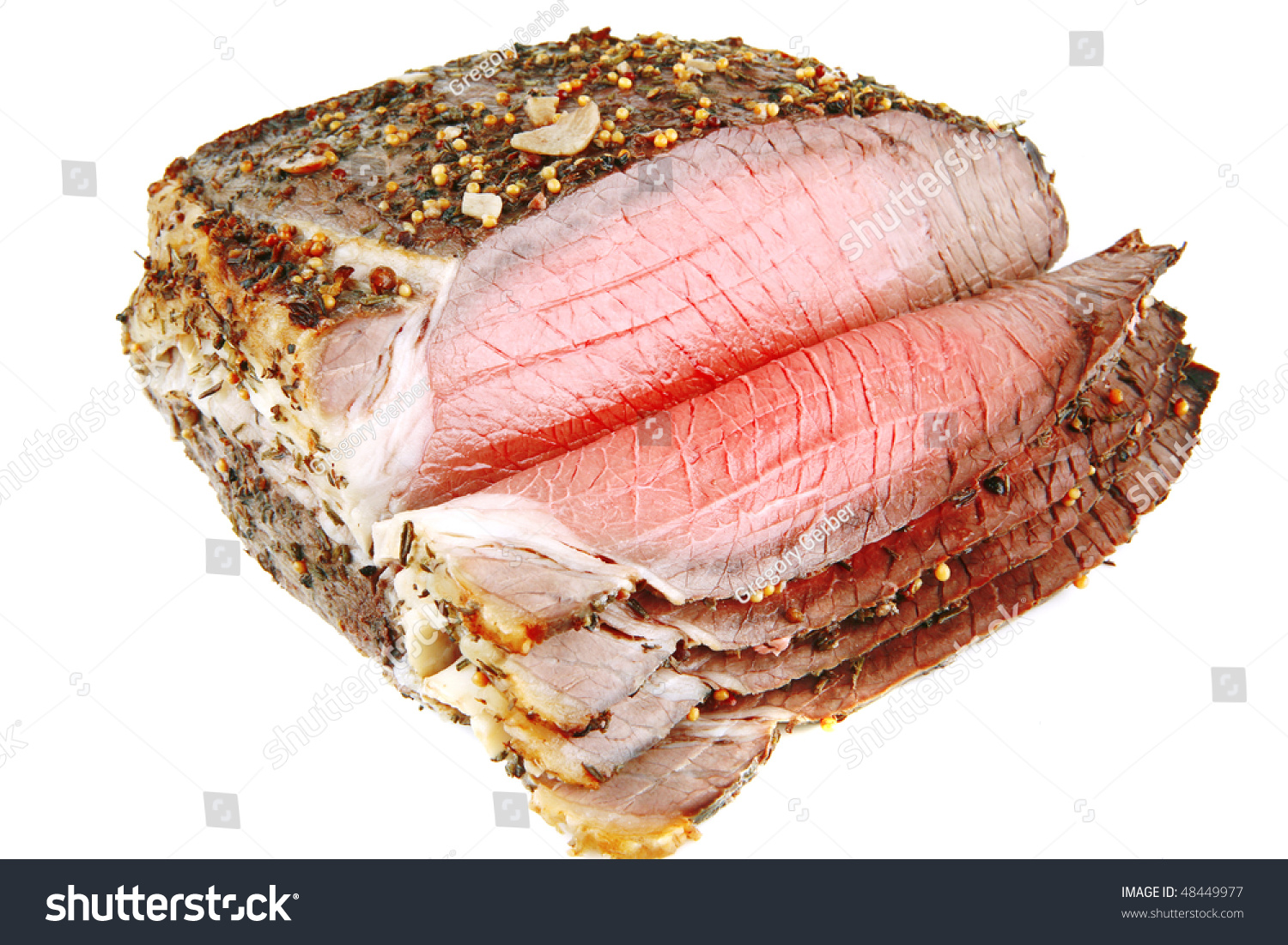 Whole Cow Meat Whole Beef Meat Slice On White Background Stock Photo