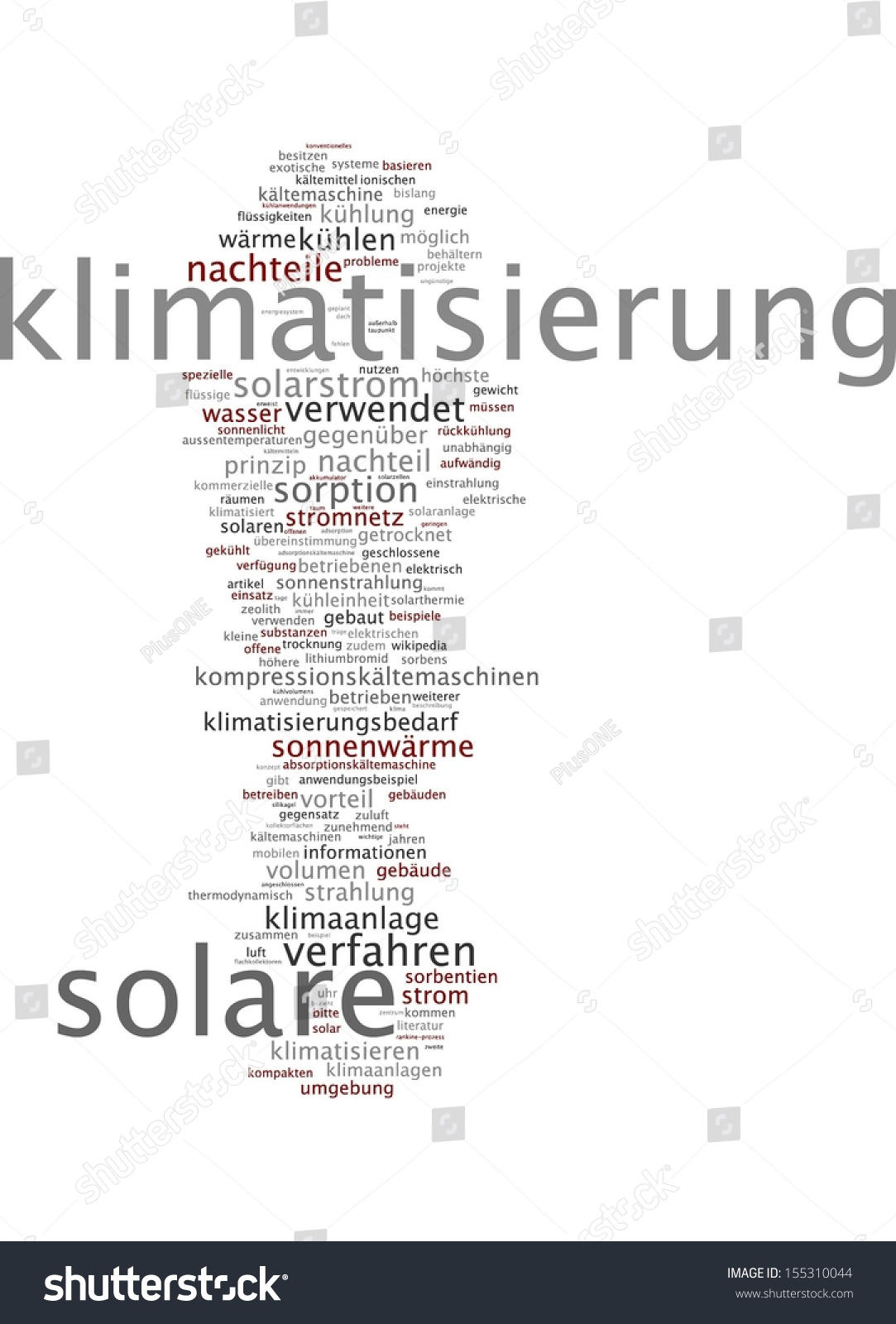 Nachteile Solarenergie Word Cloud Solar Air Conditioning Stock Illustration 155310044
