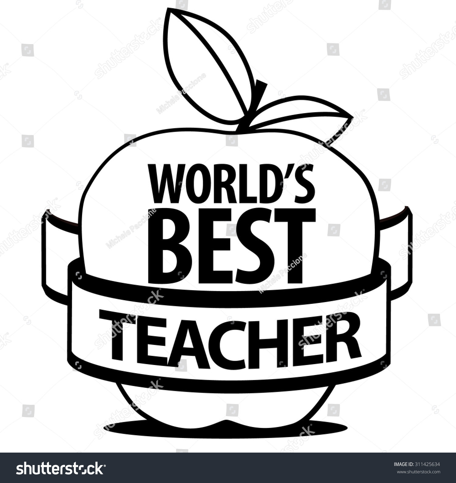 Best Black And White Posters World 39s Best Teacher Black And White Icon Royalty Free
