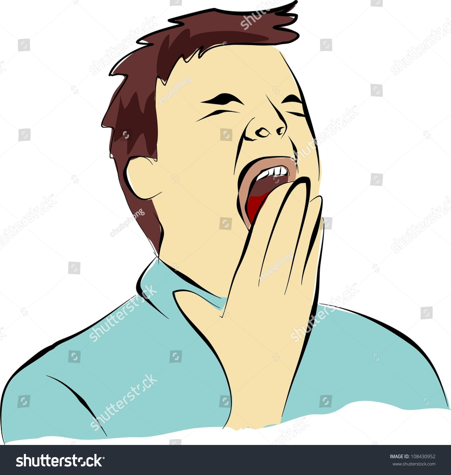 Clipart Of Someone Yawning